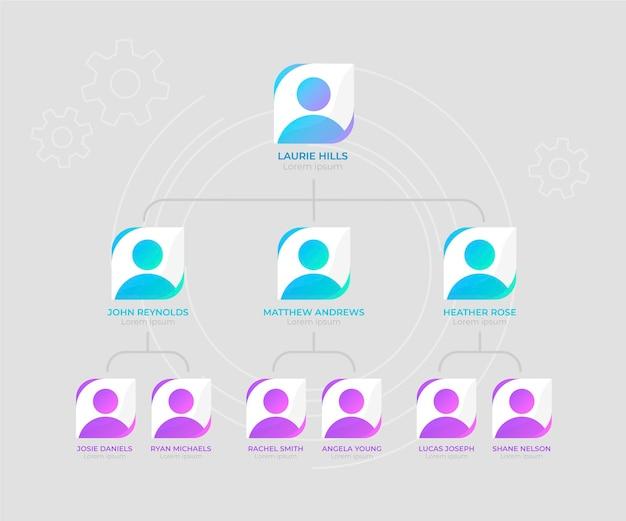 Организационная диаграмма инфографики
