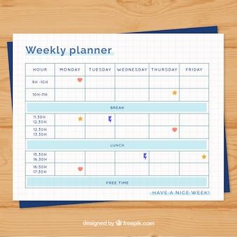 Pianificatore settimanale organizzato