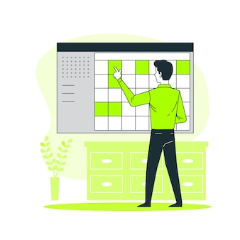 Organizing projects concept illustration