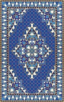 Восточный абстрактный орнамент. красочный шаблон для ковра, покрова, шали, текстиля. орнаментальный красочный узор с филигранными деталями.