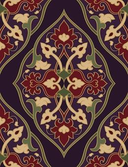 Восточный абстрактный орнамент. бесшовные модели.
