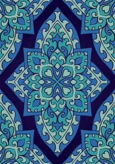 東洋の抽象的な飾り。シームレスパターン。