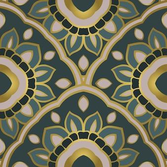 東洋の抽象的な飾り。カーペット、テキスタイル、その他の表面のテンプレート。シームレスなベクトルパターン。