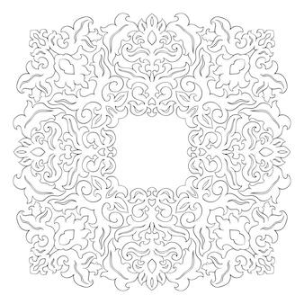 東洋の抽象的な飾り。フレーム、カード、カーペット、ボーダーのテンプレート。ベクトルパターン。デザイン要素。