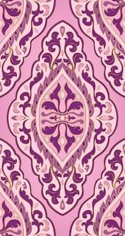 東洋の抽象的なパターン。ベクトルピンクの飾り。