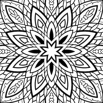 東洋の黒と白の飾り。