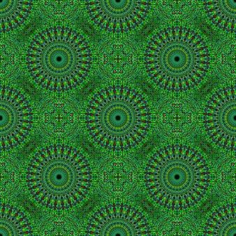 Oriental bohemian geometrical mandala mosaic seamless pattern