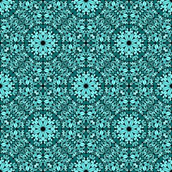 Oriental bohemian seamless gemstone ornament pattern design