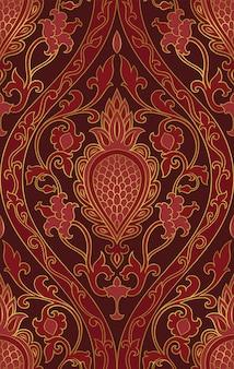 Oriental burgundy  pattern.