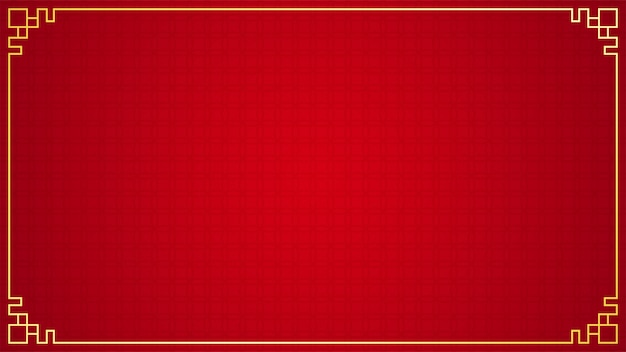 Восточный китайский бордюр на красном