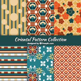 Oriental collection of decorative patterns