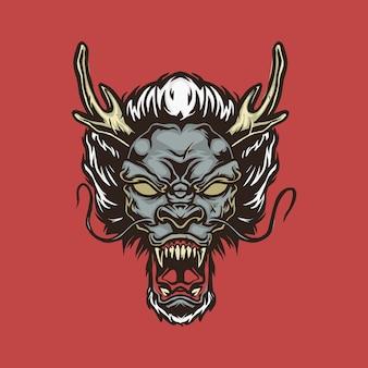 Oriental dragon head