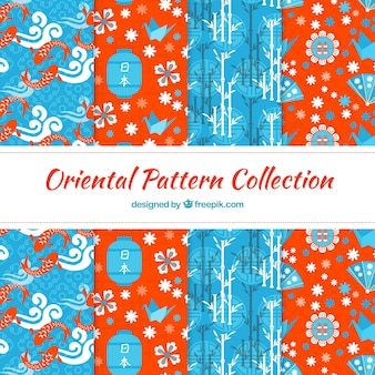 Oriental elements patterns