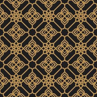 동양 꽃 풍의 추상 원활한 패턴