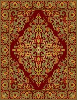 Oriental floral carpet.