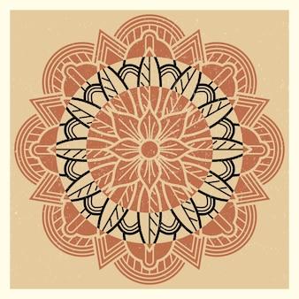 Oriental, indian, asian meditation mandala vintage