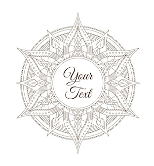 Oriental indian mandala card for your business.