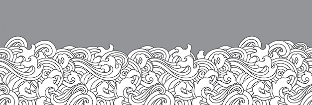 Oriental ocean wave seamless background.