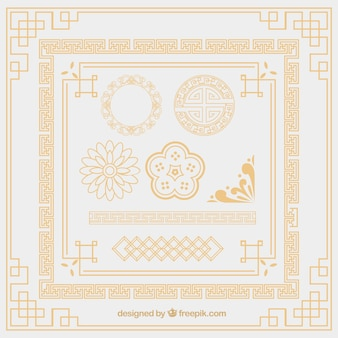 Oriental ornament elements