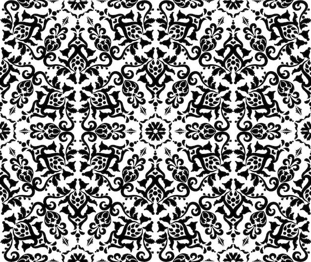 동양 장식 원활한 패턴 장식 질감 장식 다 마스크 빈티지 배경 블랙 an