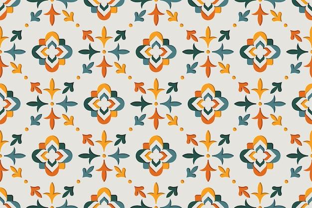 东方装饰阿拉伯式无缝花纹。东方图案纸风格背景