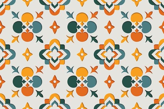 Восточные орнаментальные арабески бесшовные модели. восточный мотив бумаги стиль фона