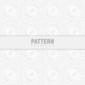 동양 패턴. 아랍어 장신구와 흰색 배경입니다.