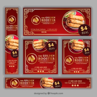 Oriental restaurant banners