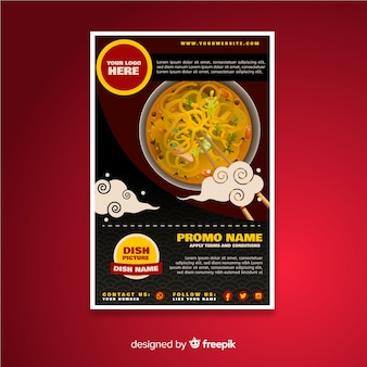 Oriental restaurant flyer template
