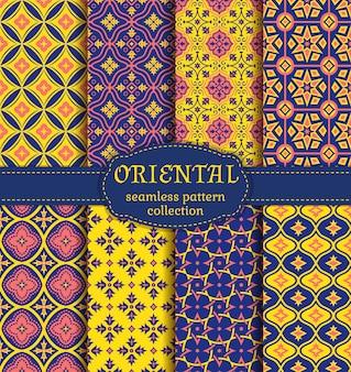 Oriental seamless patterns.