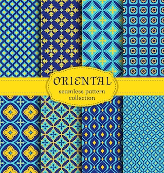 Oriental seamless patterns.