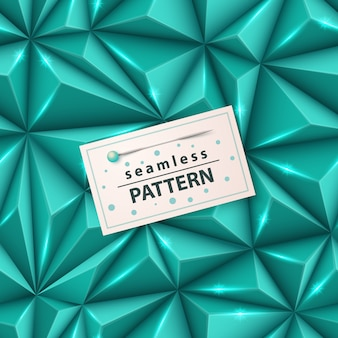 Origami 3d triangle - seamless pattern.