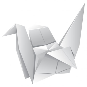 Origami Art With Paper Bird
