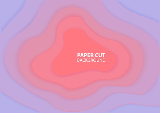 Origami background. paper cut