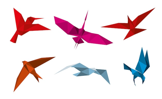Набор оригами птица