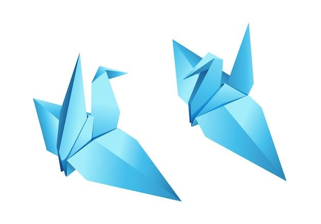 Оригами птица вектор