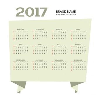 Semplice 2017 felice anno nuovo design del calendario