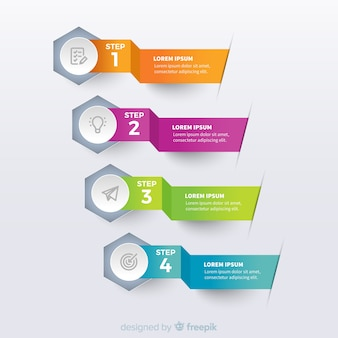 Origami colorful infographic template