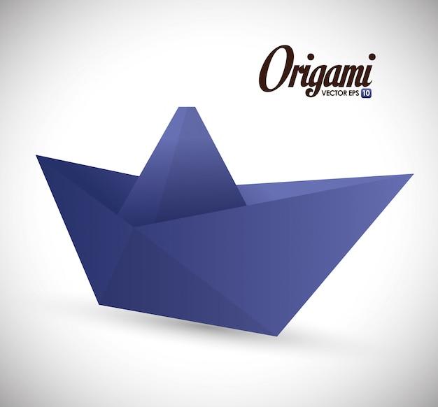 Origami design illustration