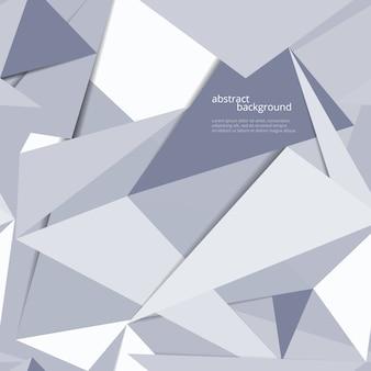 Disegno astratto di vettore geometrico origami