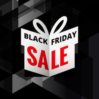 Origami giftbox di nero venerdì vendita