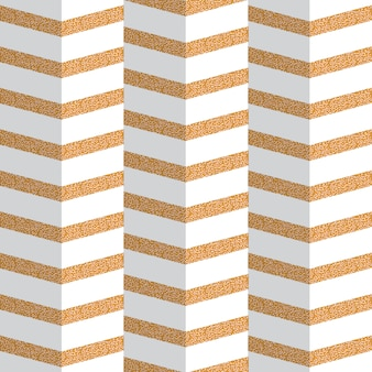 Origami golden zig zag seamless pattern