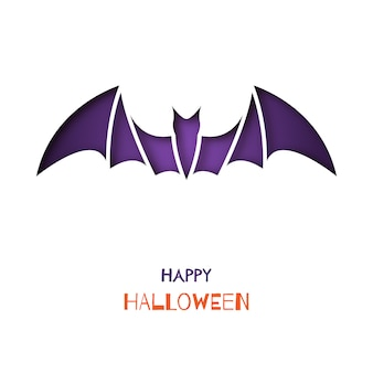 Origami greeting card with bat.