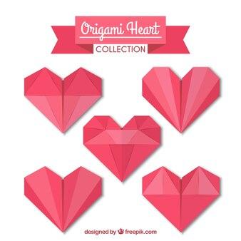 折り紙ハートコレクション
