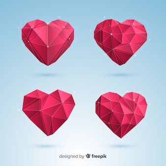 Origami heart pack