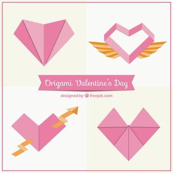 Оригами сердца пакет
