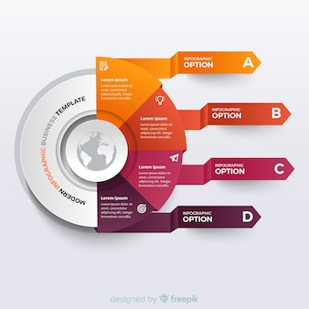 Origami infographic business template