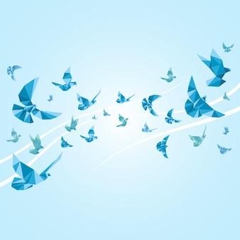 Оригами голуби из бумаги