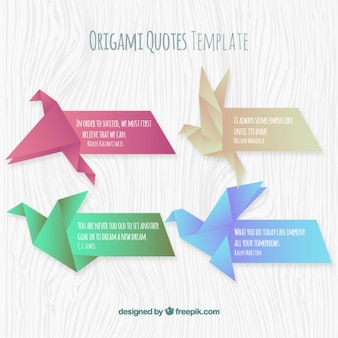 Origami quotes template set