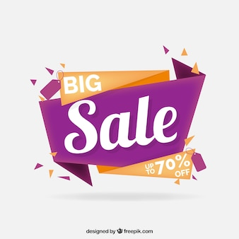Origami sale background